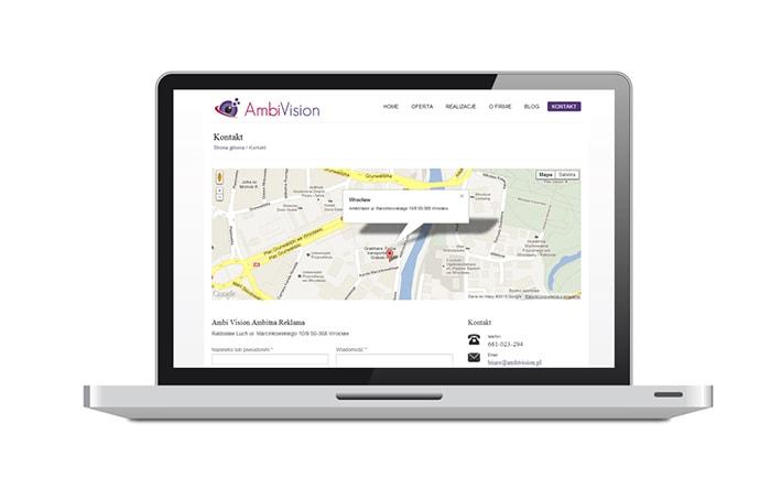 ambivision-projekt-strony-internetowej-glowna