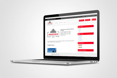 Awazymyz - projekt layoutu strony