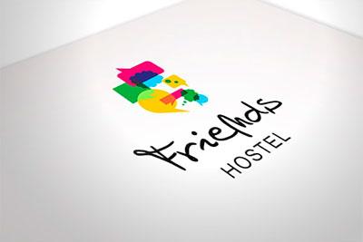 Friends Hostel - propozycja identyfikacji wizualnej