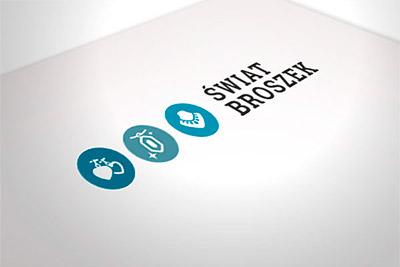 Świat Broszek - projekt logo